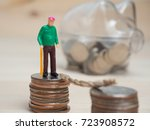 money and business concept. old ... | Shutterstock . vector #723908572