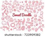 set of various doodles  hand... | Shutterstock .eps vector #723909382