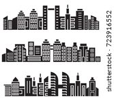 cityscape silhouette or city... | Shutterstock .eps vector #723916552