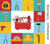 construction toolbox service... | Shutterstock .eps vector #723921436