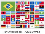 flat designed world flags.... | Shutterstock .eps vector #723929965