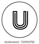 u initial   Shutterstock .eps vector #723932782