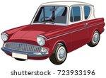 vector cartoon car. | Shutterstock .eps vector #723933196