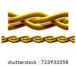 golden  ornamental segment  ...   Shutterstock . vector #723933358