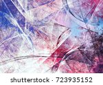 winter morning. cold blue and... | Shutterstock . vector #723935152