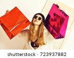 pretty woman or sexy cute girl... | Shutterstock . vector #723937882