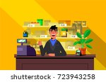 happy seller  motion design... | Shutterstock .eps vector #723943258