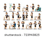 businesswoman character in the... | Shutterstock .eps vector #723943825