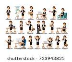 businesswoman character in the... | Shutterstock .eps vector #723943825