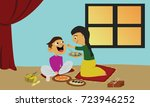 indian brother and sister... | Shutterstock .eps vector #723946252