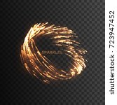 glowing fire sparks vortex... | Shutterstock .eps vector #723947452