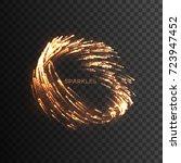 Glowing Fire Sparks Vortex...