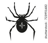 spider illustration garden... | Shutterstock .eps vector #723951682