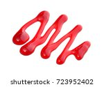 strawberry sauce drip isolated... | Shutterstock . vector #723952402