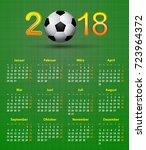 deutsch calendar 2018 soccer... | Shutterstock .eps vector #723964372