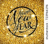 happy new year and merry... | Shutterstock .eps vector #723966196