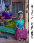 kayan state   myanmar   sep 09  ... | Shutterstock . vector #723969832
