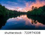 in the early 1900's mentone ... | Shutterstock . vector #723974338