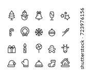 icon christmas  vector | Shutterstock .eps vector #723976156