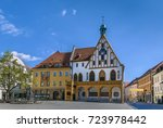 Gothic town hall on Market Square in Amberg, Germany