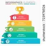 infographics element abstract... | Shutterstock .eps vector #723978526