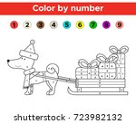 color by number for preschool... | Shutterstock .eps vector #723982132
