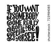 vector calligraphy image. hand... | Shutterstock .eps vector #723984085