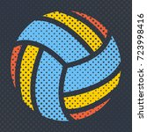 sports background ball for the... | Shutterstock . vector #723998416