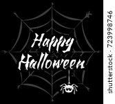happy halloween stylized... | Shutterstock .eps vector #723998746