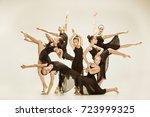the group of modern ballet... | Shutterstock . vector #723999325