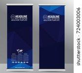 roll up business brochure flyer ...   Shutterstock .eps vector #724003006