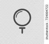 golf ball on tee vector icon... | Shutterstock .eps vector #724004722