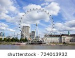 iconic london eye  london... | Shutterstock . vector #724013932