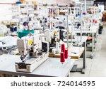 interior of garment factory... | Shutterstock . vector #724014595