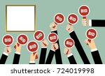 auction concept in flat style.... | Shutterstock .eps vector #724019998