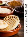Small photo of Breakfast typical of Latin American countries, Arepa