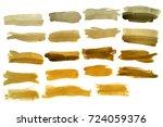 light brown orange modern... | Shutterstock . vector #724059376