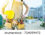 worker man. | Shutterstock . vector #724059472