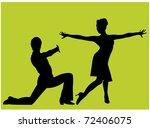 dancing couple | Shutterstock .eps vector #72406075