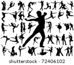 dancing people | Shutterstock .eps vector #72406102