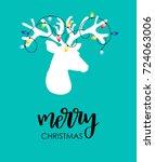 modern flat style christmas... | Shutterstock .eps vector #724063006