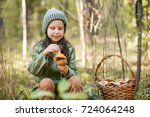 children walking in the forest... | Shutterstock . vector #724064248