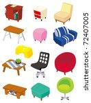 cartoon furniture icon | Shutterstock .eps vector #72407005