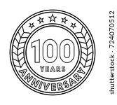 100 years anniversary logo... | Shutterstock .eps vector #724070512