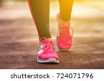 fitness woman training and... | Shutterstock . vector #724071796