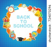 welcome back to school...   Shutterstock .eps vector #724073296