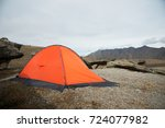 An Orange High Altitude Tent I...