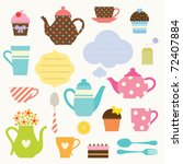 vector illustration of tea... | Shutterstock .eps vector #72407884