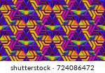 3d abstract colorful gradient... | Shutterstock . vector #724086472