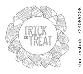 candy corn vector coloring page.... | Shutterstock .eps vector #724089208